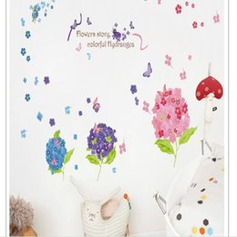 2017 Home Decorating Wallpaper The New Hydrangeflower Garden Wall Is Decorated With The Wall Of The