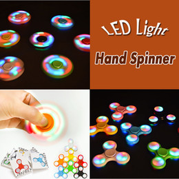online shopping 2017 New LED Light Hand Spinners Fidget Spinner Colorful Triangle Finger Spinning Top Decompression Fingers Toys Free DHL