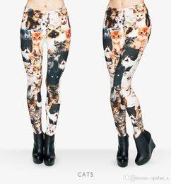 Wholesale 2017 Leggings de la manera de la impresión de la manera para las mujeres Poliester libre del tamaño Leggins suaves jadea las polainas florales del yoga para el deporte del gym de las mujeres