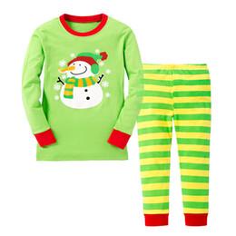 Мальчик / Девушки Кристмас пижам детей одевая домашние 2 части освобождают перевозкой груза DHL малышей хлопка пижам
