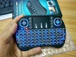 Подсветка Rii i8 Мини беспроводная клавиатура Подсветка клавиатуры Gaming мышь воздуха Пульт дистанционного управления для PC Pad Google Andriod TV Box Xbox360 PS3 OTG
