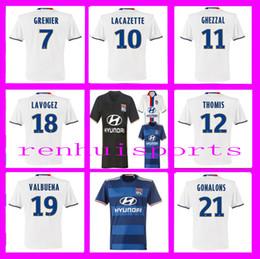 Olympique Lyonnais Maillot Lyon Maillot Lacazette Gourcuff Fekir 16 17 Maillot Demi Second Local 10 ou plus gratuit pour envoyer DHL 2016 2017