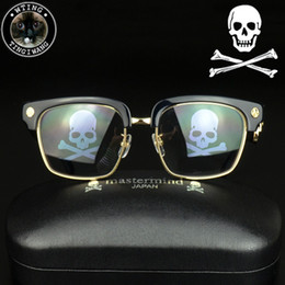 new steampunk square eyeglasses men skull logo black coating gold glasses frame man brand designer mastermind eyewear retro gafas de sol cheap skull