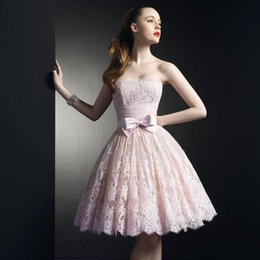 Discount Strapless Pleated Prom Dresses Bows Back | 2017 Strapless ...