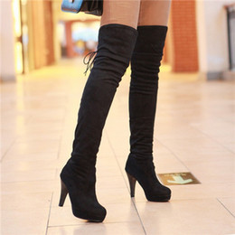 Discount Womens Boots Over Knee Lace Up | 2017 Womens Boots Over ...