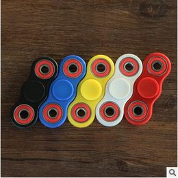 5 colores ABS HandSpinner dedo dedos espirales dedo giro Torqbar Fidget Spinner acero inoxidable llevando mano girador CCA5631 60pcs
