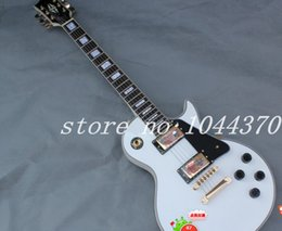have stock Factory custom shop Newest Custom Alpine White Electric Guitar BLACK Pickguard free shipping from alpine white guitar body suppliers