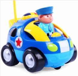 cartoon r c police car radio control toy with sounds music headlights for toddlers and kids