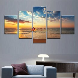 5 panelsno frame seaview modern home wall decor painting canvas art hd print
