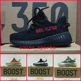 Baby Kids Calçados esportivos Meninos Rapazes Conforto Running Shoes Kanye West Temporada 3 SPLY 350 Boost V2 Preto Branco Cinzento Laranja 350 Impulso