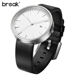 discount simple watches for men 2017 simple watches for men on break top men women simple fashion style quartz wristwatch steel case genuine leather galendar waterproof for business watches 17307 inexpensive simple