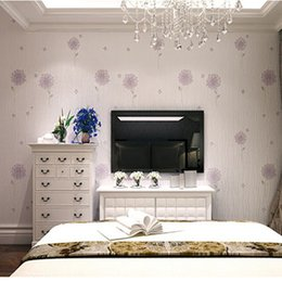 buy purple flower wallpaper for bedroom