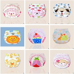 Wholesale Cartoon Animal Lion Babies pour bébés Nappies lavables Parure en tissu Reusable Infants Toddler Baby Top Quality couches couches de coton Nappy