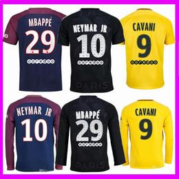 a8da1c48b Thai quality 2017 2018 PSG NEYMAR JR soccer jerseys 17 18 MBAPPE Di Maria  Draxler DANI ALVES Cavani Third black football jersey shirt