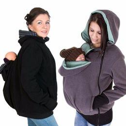 2017 Porta-bebês Kangaroo Jacket Winter Hoodie Maternidade Casacos Kangaroo Sweatshirt Casacos Fleece Kangaroo Pullover Jumper Babywearing