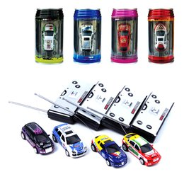 wholesale high quality multicolor coke can mini speed rc remote control racing car vehicle gift for kids mini race cars for kids on sale