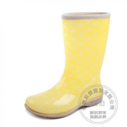 Discount Dot Rain Boots | 2017 Yellow Polka Dot Rain Boots on Sale ...