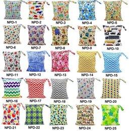 Wholesale Baby Protable Nappy réutilisable lavable humide tissu sec Zipper étanche sac à couches pour bébé sac de rangement Nappy