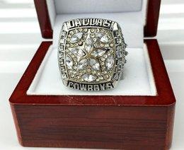 Nuevo anillo 1995 de oro 1995 del campeón del anillo del campeonato del vaquero de Dallas Envío libre con la caja al por menor