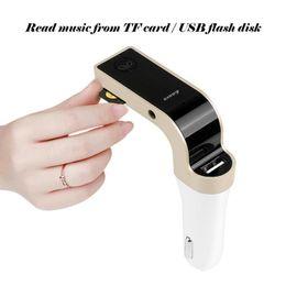 4in1 manos libres inalámbrico Bluetooth FM transmisor G7 AUX modulador coche kit MP3 con caja al por menor 2017 Producto más vendido