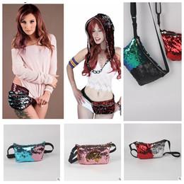 Mulheres Sequin Bags Sereia Pocket Glitter Sequin Bolsa Tote Bag Bag Crossbody Bolsas Cosmética Maquiagem Bag KKA1098