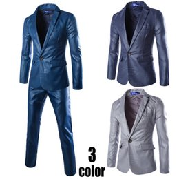 Wholesale Venta al por mayor chaquetas pantalones nuevos trajes de los hombres del solo botón de la llegada adelgazan el vestido formal formal apto del negocio que se casa Blazer