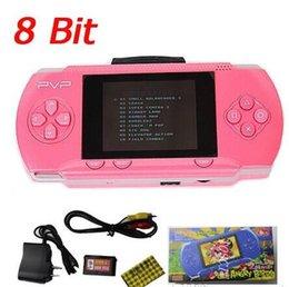 8 Bit 2.5 pulgadas PVP LCD de pantalla digital Pocket Game Console Nuevo PVP2 Portable Handheld jugador del juego con el paquete de tarjeta de juego libre de venta al por menor
