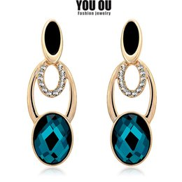 Brand New Earrings inlaid Rhinestone crystal, gold and platinum plating  really large more favorable,Su,Support on behalf of the delivery