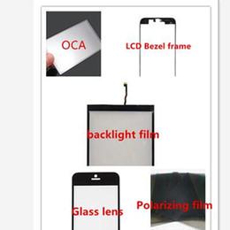online shopping Front LCD Middle Bezel Frame Glass Lens OCA Adhesive Sticker film Polarizing film Backlight film full set parts for iphone s c plus