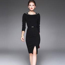 2017 Модный офис леди платье Темперамент Развивайте Sexy офис Показать тонкий пакет Ягодицы с длинными рукавами женщин Весна элегантные женские