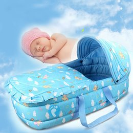 Хорошее качество Портативный Детские кроватки Кровать для младенцев 0-7Month Корзина Новорожденные Путешествия Кровать Comfy Travel Cradle VT0406