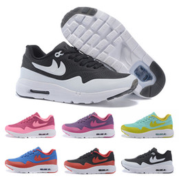 Discount shoes run air max Wholesale 2016 Children Max Zero QS 87 Running Shoes For Kids High Quality Brands Air Cushion Trainers Boys Girls Sports Shoes Free Shipping