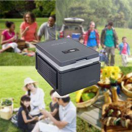 Акция в США! SOAC 12V Car Mini Холодильник Компактный Открытый холодильник Кулер / Подогреватель 12L Grey Cooler / Warmer Бесплатная доставка