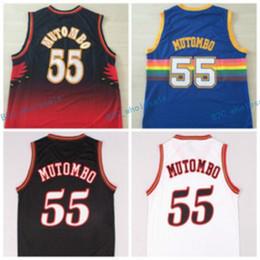 152884221c2 Hot 55 Dikembe Mutombo Jersey Sale Fashion All Star Throwback Dikembe  Mutombo Shirt Uniform Team Red Blue White Black Best Quality cheap best  throwback ...