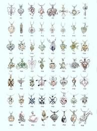 18kgp Fashion love wish perle / pierres précieuses perles de locket cages, charmant DIY charm pendentif montures 100pcs / lot en gros (peut mélanger des styles différents)