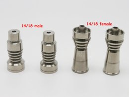 Free Shipping domeless titanium nail for both 14.5MM and 18.8MM male and female joint titanium nail for glass water bong