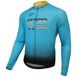 f4222c6d71a WINTER FLEECE THERMAL ONLY CYCLING JACKETS CLOTHING LONG JERSEY ROPA  CICLISMO 2017 ASTANA PRO TEAM BLUE SIZE:XS-4XL ...