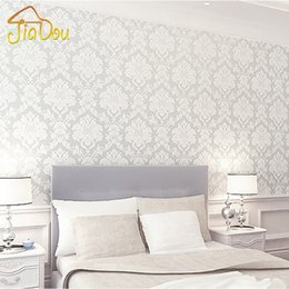 French White Pink 3d Floral Damask Vinyl Wallpaper Mural For Living Room Bedroom Wall Covering Papel De Parede Roll 0 53 10m