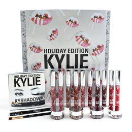 Kylie Special édition limitée Holiday Box Kit Meilleur cadeau de Noël Kits Kylie jenner rouge à lèvres rouge à lèvres kyshadow eyeliner sourcil pinceau 2017