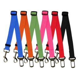 6 couleurs chien chien voiture sécurité cinturon de sécurité harnais réglable animal domestique chiot chien cigare voiture ceinture de sécurité plomb leash pour chien Drop Shipping 100pcs / lot