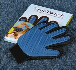 2017 cat products Pet GLove Deshedding Pet Glove True Touch For Gentle And Efficient Grooming Removal Glove Bath Dog Cat Brush Comb cheap cat products