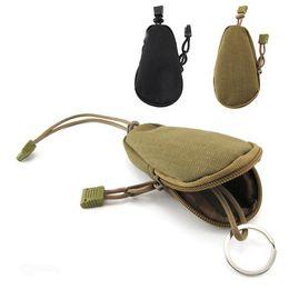 Wholesale EDC porte clés mini clés de cyclisme porte monnaie sacs à main poche porte clés Zipper Case Black Brown couleur paquet de transport A372