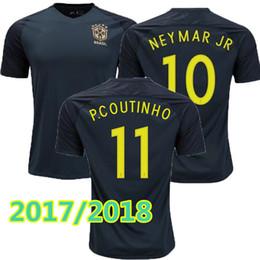 new Brazil jersey 2017 2018 Soccer jersey Camisa de futebol Brasil Neymar  Oscar home away Adult football Shirt thai quality cheap brazil new jersey  ... 77c81cb03