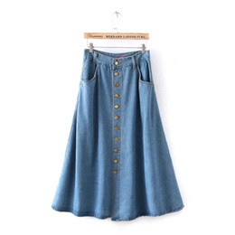 Discount Ankle Length Denim Skirts   2017 Ankle Length Denim ...