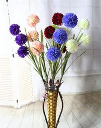 silk flowers wedding decor simulation flower new home furnishing articles simulation flowers 3 heads chrysanthemum dandelion flowers - Home Decor Articles