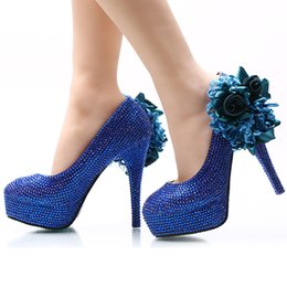Royal Blue Satin Pumps Online | Royal Blue Satin Pumps for Sale