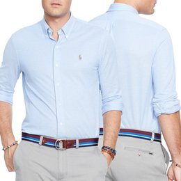New 2016 Fashion Small Horse Oxford Chemises Hommes Chemises Chemises Chemises Homme