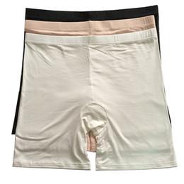 Wholesale 2 piezas confortables más tamaño boxer de bambú de las señoras pone en cortocircuito la ropa interior de Boyshort de los pantalones seguros del verano ligero para las mujeres pulgadas xxl xl