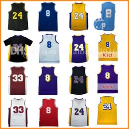 4002246be93 2017 24 basketball jersey 24 KB 8 Bryant Basketball Jersey Men s Adult Mesh  Throwback High School