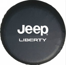 Discount liberty vinyl Spare Tire Cover For Jeep LIBERTY 14inch-17inch Wheel Tire Cover Vinyl Nice,high-quality HD Logo By Heavy Vinyl Black Tyre Covers